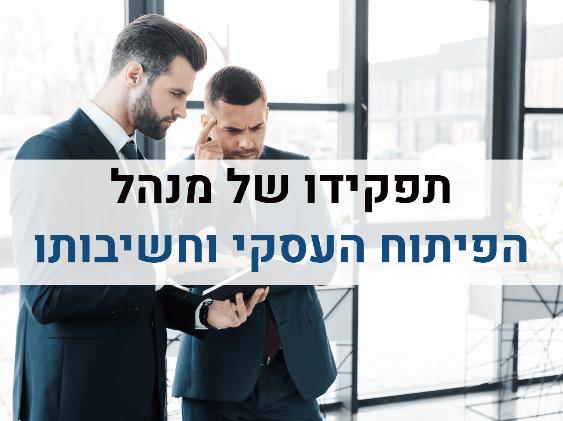 תפקידו של מנהל הפיתוח העסקי וחשיבותו
