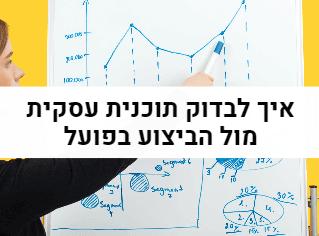 איך לבדוק תוכנית עסקית מול הביצוע בפועל